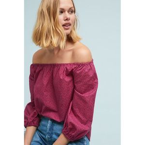 Anthro Maeve Maiden Off-the-shoulder blouse